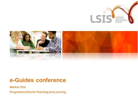 E-Guides conference Markos Tiris Programme Director Teaching and Learning.