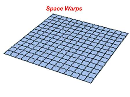 Space Warps. Light is believed to travel the shortest distance between two points But…… the path of light is curved in the presence of a gravitational.