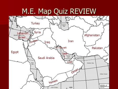 Middle East Political Map Countries Afghanistan Algeria - Map of egypt syria and israel