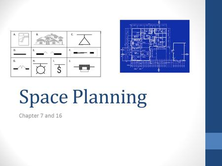 Space Planning Chapter 7 and 16.
