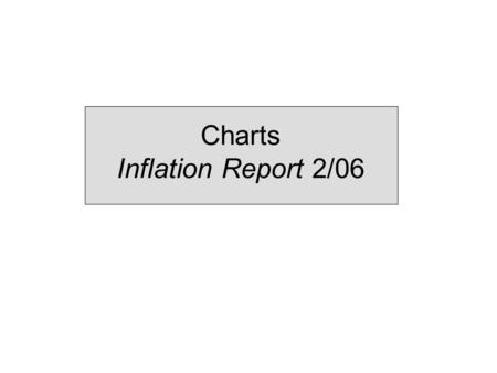 Charts Inflation Report 2/06. 1 Monetary policy assessments and strategy.