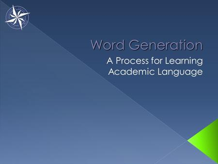 A Process for Learning Academic Language