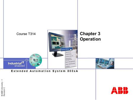 Chapter 3 Operation Course T314.