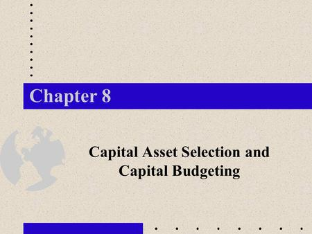 capital assets chapter 4 solutions