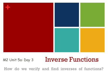 How do we verify and find inverses of functions?