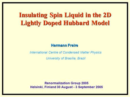 Insulating Spin Liquid in the 2D Lightly Doped Hubbard Model