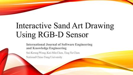 Interactive Sand Art Drawing Using RGB-D Sensor