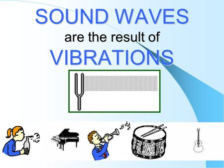 SOUND WAVES are the result of VIBRATIONS