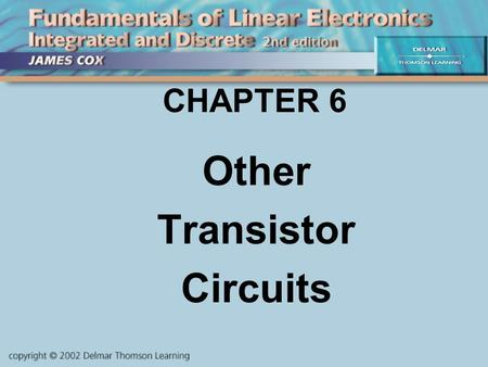 Other Transistor Circuits