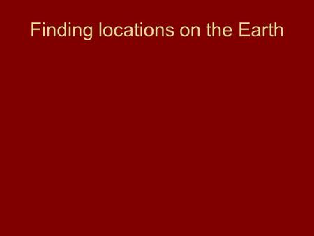Finding locations on the Earth. Latitude (parallels) imaginary lines drawn around the earth parallel to the equator definition – the distance north or.