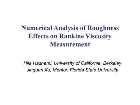 Hila Hashemi, University of California, Berkeley