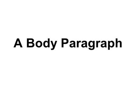 research paper body paragraph ppt