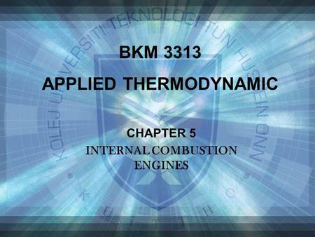 APPLIED THERMODYNAMIC INTERNAL COMBUSTION ENGINES