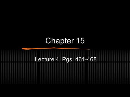 Chapter 15 Lecture 4, Pgs. 461-468. Lymphatic system Many additional substances, including fluid and protein molecules, that cannot enter or return through.