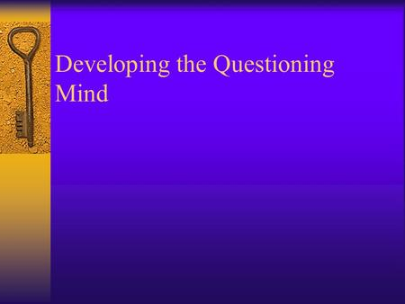 Developing the Questioning Mind Conference diagram.