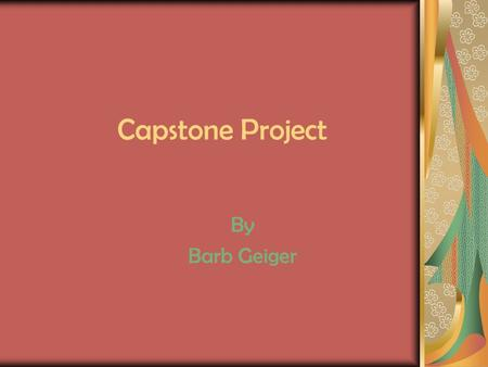 Capstone Project By Barb Geiger. Introduction Diversity Small Group Communication Media Literacy.
