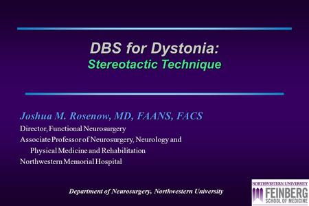 DBS for Dystonia: Stereotactic Technique
