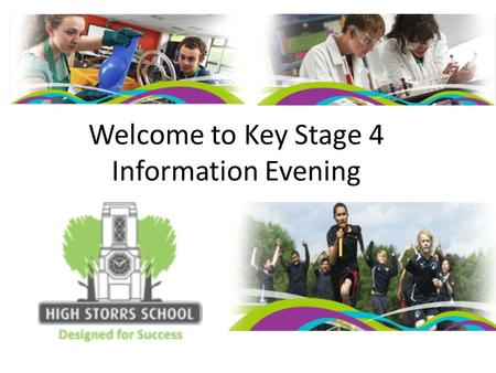 Welcome to Key Stage 4 Information Evening. Supporting your child's progress in English Sarah Bell Head of KS4 English Structure of the new KS4 curriculum.