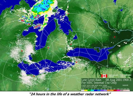 """24 hours in the life of a weather radar network""."
