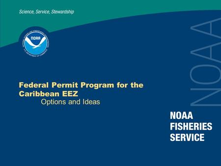 Federal Permit Program for the Caribbean EEZ Options and Ideas.