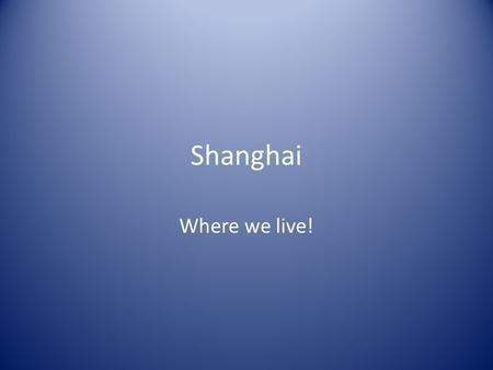 Shanghai Where we live!. Shanghai: 16 Districts, 1 County What is the name of the district where SMIC is located?