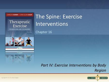 The Spine: Exercise Interventions