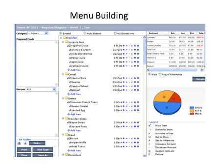Menu Building. Accessing Menu Batch Reports Clicking on the Reports button allows you to access all of the Menu Batch Reports.
