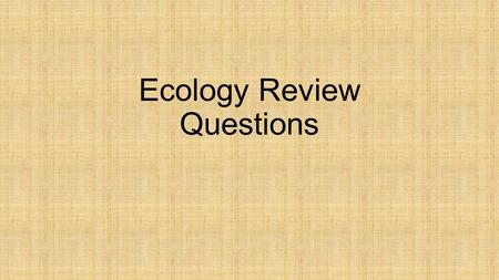 Ecology Review Questions. Which of the following materials is not considered to be an industrial waste? A.Agriculture pesticides B.Harmful Chemicals C.Poisonous.