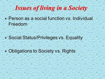 essays on individual vs. society