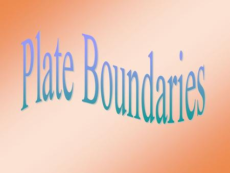 Aim: Aim: What are the different types of plate boundaries and what are the geologic activities associated with these boundaries? Plate Boundary I.