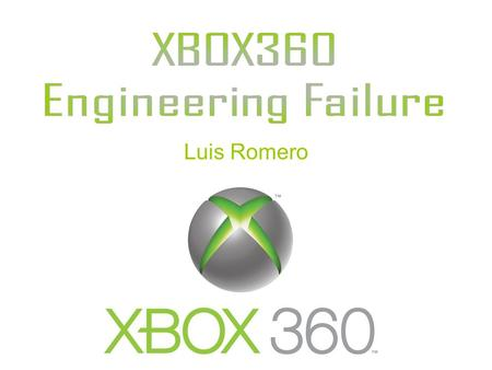 Luis Romero. Xbox360 allows users to compete online with multiplayer using Xbox live, and download game demos, TV shows, and music videos. It is Microsoft's.