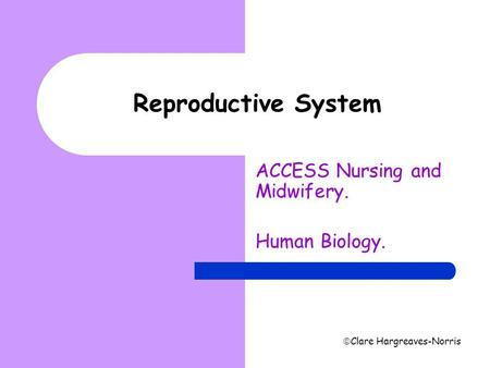 ACCESS Nursing and Midwifery. Human Biology.