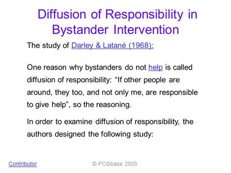 a report on the article bystander intervention in emergencies diffusion of responsibility