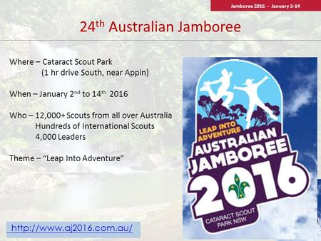 24th Australian Jamboree