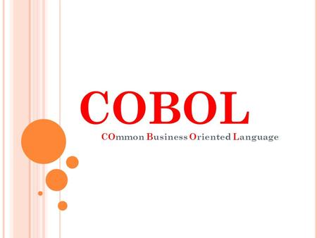 COmmon Business Oriented Language