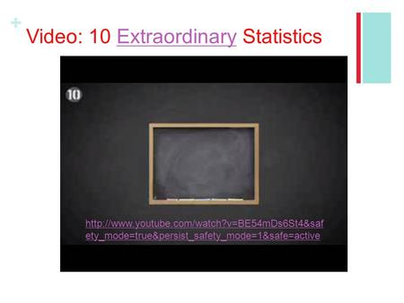 + Video: 10 Extraordinary StatisticsExtraordinary  ety_mode=true&persist_safety_mode=1&safe=active.