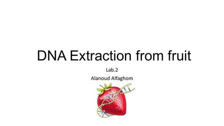 DNA Extraction from fruit Lab.2 Alanoud Alfaghom.
