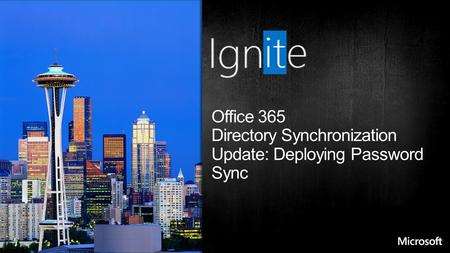 Office 365 Directory Synchronization Update: Deploying Password Sync.