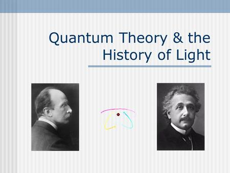 Quantum Theory & the History of Light. Is Light a Ray, Wave or Particle? The question has been debated many times over the years dating back as far as.