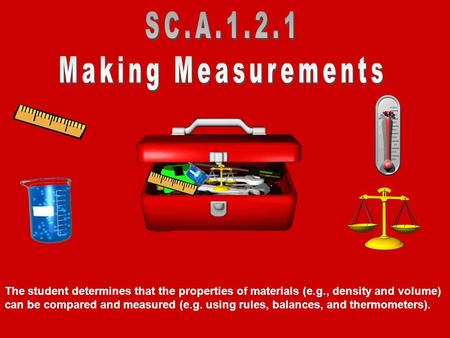 SC.A Making Measurements