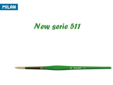 New serie 511. -CHARACTERISTICS: HAIR: - Round brush of Chunking bristle hair for scholar use. - Origin : -The hair of this brush comes from the back.