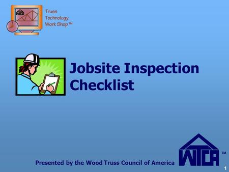 Jobsite Inspection Checklist