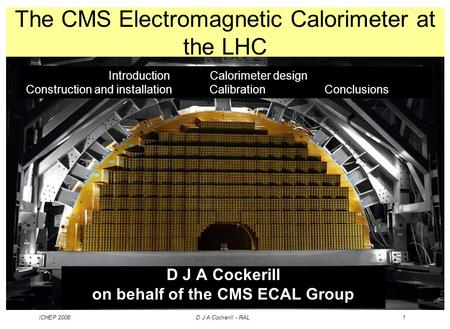 The CMS Electromagnetic Calorimeter at the LHC