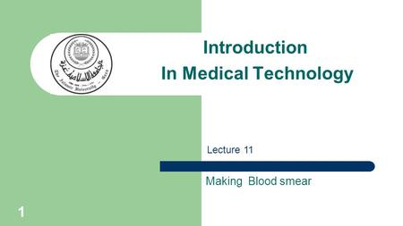 Introduction In Medical Technology