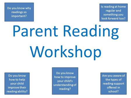 Parent Reading Workshop