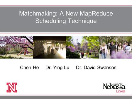 Matchmaking: A New MapReduce Scheduling Technique