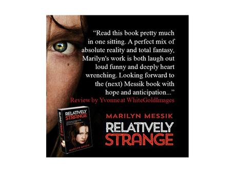 """Read this book pretty much in one sitting. A perfect mix of absolute reality and total fantasy, Marilyn's work is both laugh out loud funny and deeply."