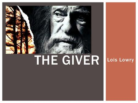 "Lois Lowry THE GIVER.  ""Jonas's world is perfect. Everything is under control. There is no war or fear or pain. There are no choices. Every person is."