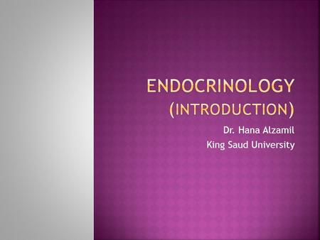 Endocrinology (Introduction)