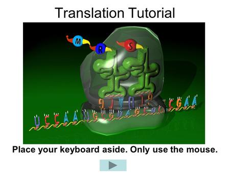 Translation Tutorial Place your keyboard aside. Only use the mouse.